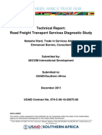 Tech20110901 Ward Baretto Diagnostic Report on Road Transport Service Sector