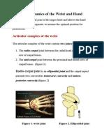 Biomechanics of the Wrist and Hand