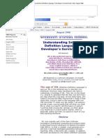 UnderstandingInterfaceDefinitionLanguage a Developer'SSurvivalGuide 1998