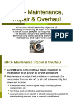 MRO-Maintenance, Repair & Overhaul