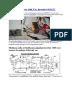 Rangkaian Inverter 1000 Watt Berbasis MOSFET