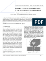 A Cpw-fed Antenna Rectangular Shaped Box With