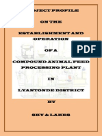 Project Profile for Lyantonde Animal Feed Mill - Cover Page