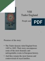 Lectia VIII Tudors England
