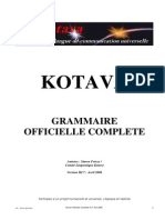 Official grammar of Kotava (v3.07, april 2006)