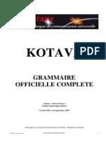 Official grammar of Kotava (v3.09, sept 2007)