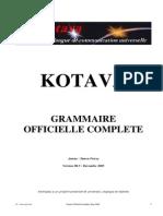 Official grammar of Kotava (v3.05, sept 2005)