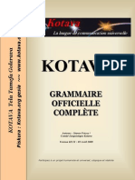 Official grammar of Kotava (v3.11, april 2009)