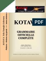 Official grammar of Kotava (v3.13, march 2012)