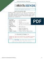 The Hindu Online E-Paper Service - Payment Receipt