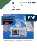 Anritsu Mp1570a Sonet Sdh Pdh Atm Data Sheet Sdh Edition