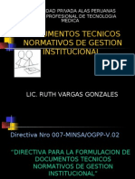 Documentos Tecnicos Normativos de Gestion Institucional