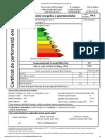Certificat de Performanta Energetica Pe Apartament