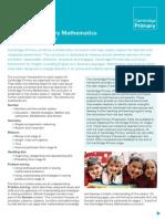 25127 Cambridge Primary Maths Curriculum Framework