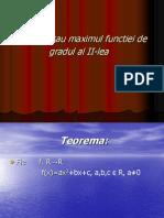 00minimul Sau Maximul Functiei de Gradul Al II-lea(2)