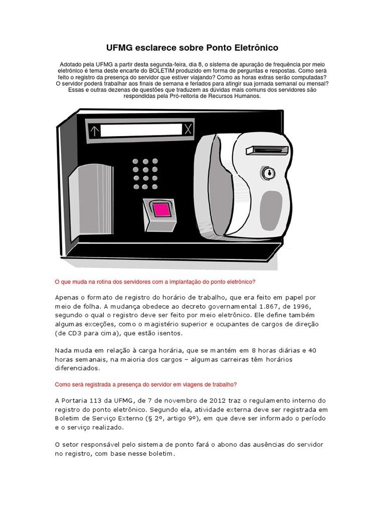4fbe89e701b UFMG Esclarece Sobre Ponto Eletrônico