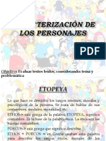 Caracterización de Los Personajes