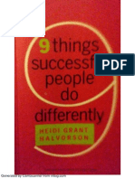 9 Things Succesful People Do Differently