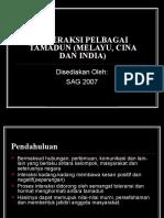 (Bab 4)Interaksi Pelbagai Tamadun (Melayu, Cina Dan