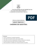 MP RS 2008 Prova Discursiva - Grupo Temático I