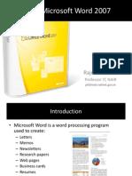 PIT Microsoft Word 2007