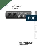 AudioBox22VSL QuickStart En