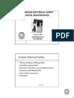 Pelatihan Electrical Safety Untuk Maintenance