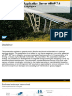 SAP NetWeaver as ABAP 7.4 - Overview and Product Highlights