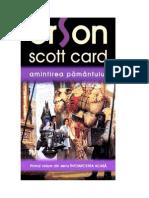 Card, Orson Scott - [Intoarcerea Acasa 01] Amintirea Pamantului [v.1.0]