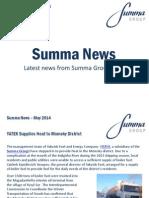 Summa Group News, May 2014