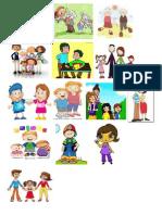 Diagrama de Venn y Dibujos de Familia