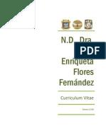 Dra. Flores Curriculum Oficial