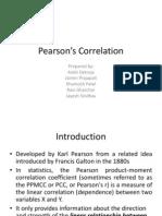 Pearson's Correlation