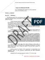 Draft Proposed Ordinance for Ride-sharing, Houston TX, April 2014