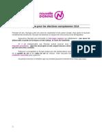 Programme Europeennes2014 NouvelleDonne