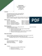Resume of Richard Hanes