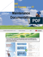 U2000 Maintenance Documentation