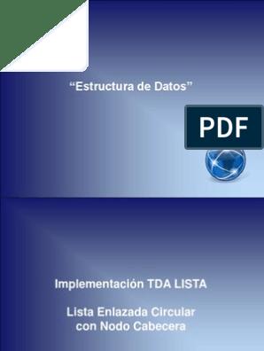 Diapositiva 4 Tda Lista Lista Circular Recuperación De