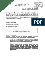 Proyecto de Ley No. 2808/2013-CR