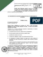 Proyecto de Ley No. 3019/2013-CR