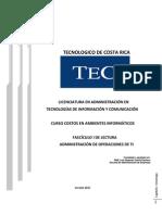 Administración de Operaciones de TI Capítulo I ESTRATEGIA