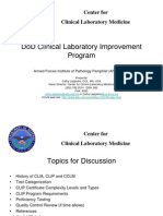 PRINT-DoD Clinical Laboratory Improvement Program