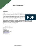 Oseco Supplier Procurement Survey