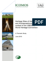 Astronomy and World Heritage Thematic Study
