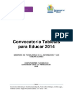 Documento Tecnico Bases Convocatoria Tabletas Para Educar 2014