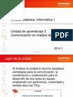UDT Informatica U3 Sesion 1  -2014-1