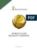 Royal Gold Company Info