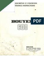 Bouyer 600 Notice