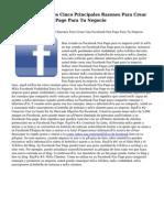 Facebook Fan Pages Cinco Principales Razones Para Crear Una Facebook Fan Page Para Tu Negocio