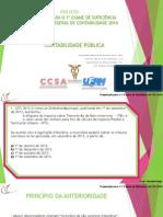CONTABILIDADE PÚBLICA - Preparação Para o 1º Exame de Suficiência Do CFC 2014.1 - Ronaldo Em 17 de Março de 2014 (1)